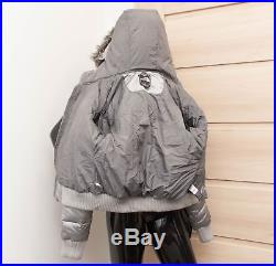 New THE NORTH FACE Ladies Metallic Silver GOTHAM Goose Down Hooded Jacket S