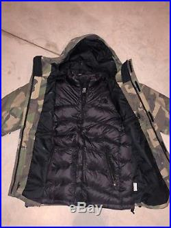 New The North Face Jacket Triclimate Hoodie Puffer Camo Medium GTX Apex Clement