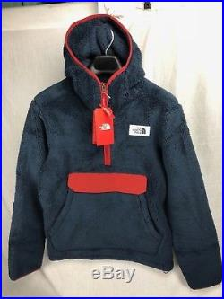 New The North Face Men Campshire Pullover Hoody Navy Red Fleece Free Ship