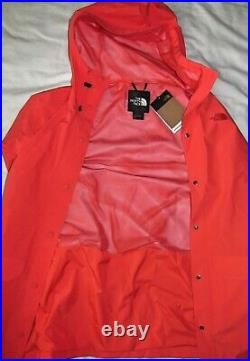 New The North Face Woodmont Cayenne Red Rain Jacket Coat Womens Size Large