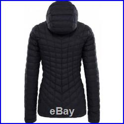 New Womens Medium Tnf Black Matte The North Face Thermoball Hoodie Puffer Jacket