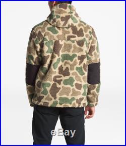 North Face Campshire Hoodie CAMO Camouflage Mens MEDIUM Sherpa Fleece Half Zip