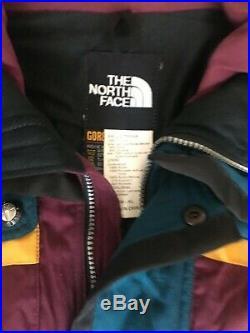 North Face Men Vintage Hooded BOLD Ski Coat Jacket M-XL Gore-Tex RARE USA Made