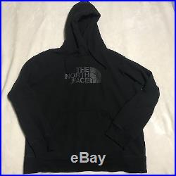 North Face Mens XL Black Gray Hoodie Sweatshirt