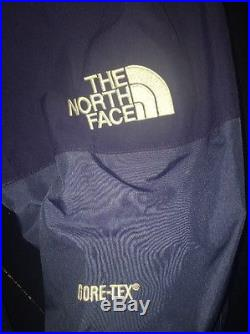 North Face Ski Jacket Coat Mountain Shell Gore-Tex Mens Size XL Blue Hoodie