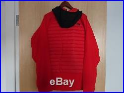 North Face Unlimited Jacket Down Hybrid Ski Hoodie Mens XL Red 800 Fill