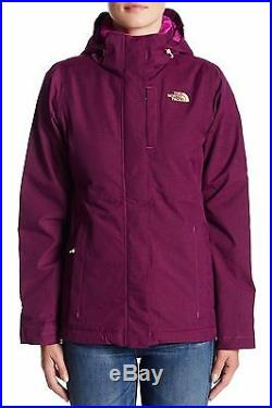 Nwt Womens The North Face Inlux Insulated Waterproof Fleece Plum Hooded Jacket
