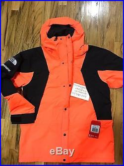 SUPREME THE NORTH FACE MOUNTAIN LIGHT TECH JACKET ORANGE L hoodie box shirt t
