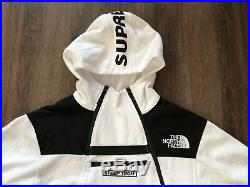 SUPREME X THE NORTH FACE STEEP TECH HOODIE Mens XL White Jacket Sweatshirt