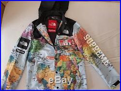 SUPREME x TNF The North Face SS14 Expedition Map Jacket Coat Hoodie, Men L(Large)