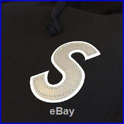 Supreme 3M Reflective S Logo Black Hooded Sweatshirt Size XL North Face 2016