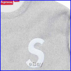 Supreme FW16 S Logo Crewneck Heather Grey Classic Spin the North Face Box Hoodie