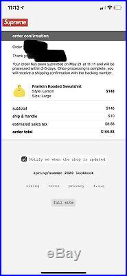 Supreme Franklin Hoodie Large And Supreme The North Face Floating Key Chain