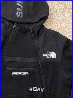 Supreme NYC X The North Face (TNF) Steep Tech Fleece Hoodie Sweatshirt Med