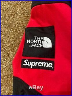 Supreme NYC X The North Face (TNF) Steep Tech Fleece Hoodie Sweatshirt Red