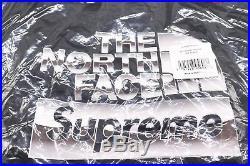 Supreme North Face Hoodie Black sz L Metallic Logo Large