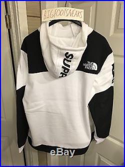 Supreme North Face Steep Tech Hooded Sweatshirt White XL XLarge 2016