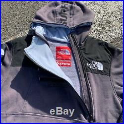 Supreme North Face TNF Steep Tech Overdyed Sweatshirt Hoodie Grey SS16 Size XL