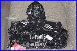 Supreme North Face Venture Jacket M Ss12 Black Bnwt Ds Box Logo