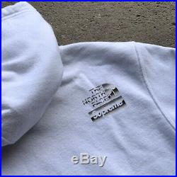 Supreme The North Face Hoodie Size Large White Sweatshirt AUTHENTIC