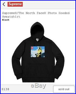Supreme The North Face Photo Hoodie Hooded Sweatshirt Black XL FW18 Week 15 TNF