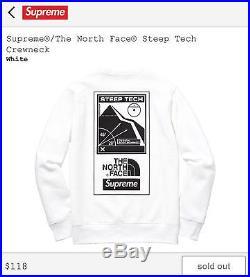 Supreme/The North Face Steep Tech Crewneck Sz XL Sweatshirt Hoodie TNF