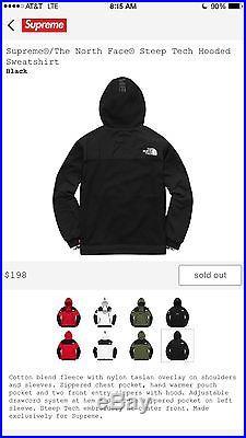 Supreme/The North Face Steep Tech Hooded Sweatshirt