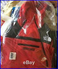 Supreme/The North Face Steep Tech Hoodie Jacket Red DS Kermit Box Logo Yankees