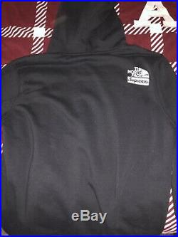 Supreme X The North Face Metallic Logo Hoodie Black Size SMALL