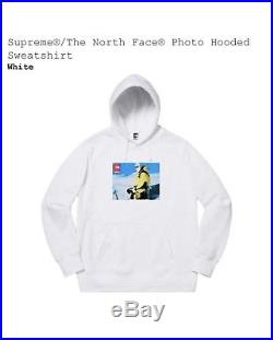 Supreme X The North Face TNF Ski Photo Sweatshirt Hoodie White Medium FW18 2018