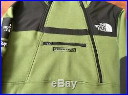 Supreme X The North Face TNF Steep Tech Fleece Hoodie 100% Authentic Olive RARE