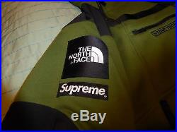 Supreme northface steeptech olive pullover hoodie and pants med m bape tnf zip u