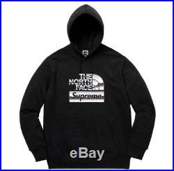 Supreme x The North Face Metallic Logo Hooded Sweatshirt Black Size XL