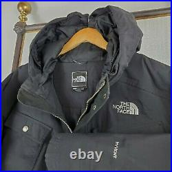 THE NORTH FACE 2XL Mens Hawthorn 550 Goose Down Black HyVent Coat Jacket $299