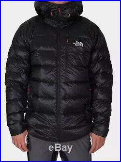THE NORTH FACE HOODED ELYSIUM PERTEX BLACK 700 DOWN insulated MEN'S COAT L