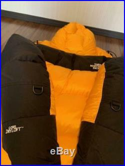 THE NORTH FACE Himalayan Down Jacket GORE-DRYLOFT Hoodie M size Yellow black