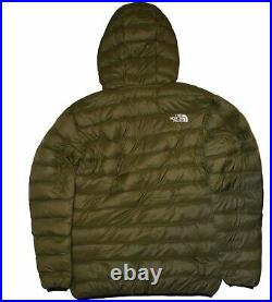 THE NORTH FACE MEN'S JACKET PUFFER COAT HOODIE DOWN 800 OLIVE Size XL