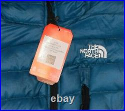 THE NORTH FACE MEN'S JACKET PUFFER COAT HOODIE DOWN 800 TURQUISE Size M