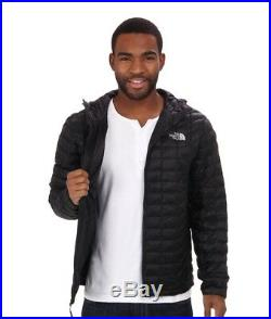 THE NORTH FACE MEN THERMOBALL INSULATED HOODIE BLACK/Silver Logo Small BNWT