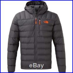 THE NORTH FACE Ryeford Down Hoody Asphalt Grey Persian Orange Large RRP £190