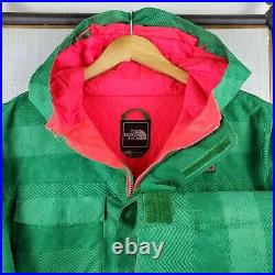THE NORTH FACE Size XL Womens Watermelon Hyvent Hooded Ski Jacket Winter Jacket