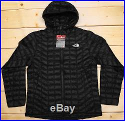THE NORTH FACE THERMOBALL HOODIE PRIMALOFT lightweight MEN'S BLACK JACKET L