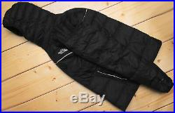 THE NORTH FACE WEST PEAK 700 DOWN insulated MEN'S BLACK PUFFER HOODIE JACKET S