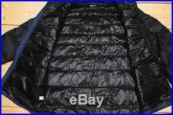 THE NORTH FACE WEST PEAK 700 DOWN insulated MEN'S BLUE PUFFER HOODIE JACKET XL
