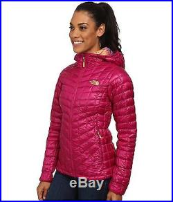 The North Face Womens Thermoball Hoodie Insulated Hooded Jacket Plum Size L New