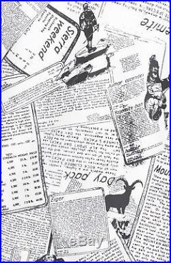 THE NORTH FACE Women Jacket Flyweight Hoodie White Collage Windbreaker Newspaper