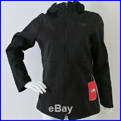 THE NORTH FACE Women's Apex Risor Hoodie Softshell Jacket TNF BACK sz S M XL