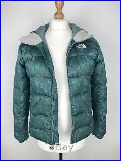 THE NORTH FACE Womens 600 Down Coat Hooded Puffer TNF Small S Green
