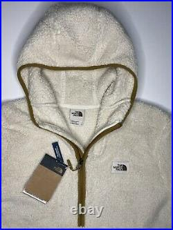 The North Face Campshire Sherpa Fleece Pullover Hoodie Beige Men's $149