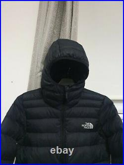 The North Face Down Insulated Hoodie Winter Jacket Top Size Men Small Chest 38